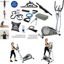 Sunny Health and Fitness Magnetic Elliptical Trainer Bundle