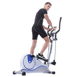 Home indoor magnetic control fitness step elliptical machine