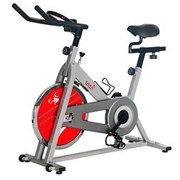 Sunny Health and Fitness Indoor Cycling Bike - Silver