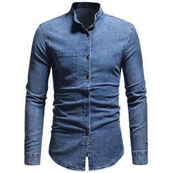 kaifongfu Dress Shirt,Autumn Winter Men's Long Sleeve Shirt