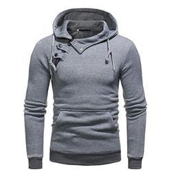 kaifongfu Outwear Tops,Men Casual Autumn Sweatshirt Blouse B