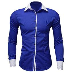 kaifongfu Shirt,Men Long Sleeve Business Shirt Slim Fit Shir