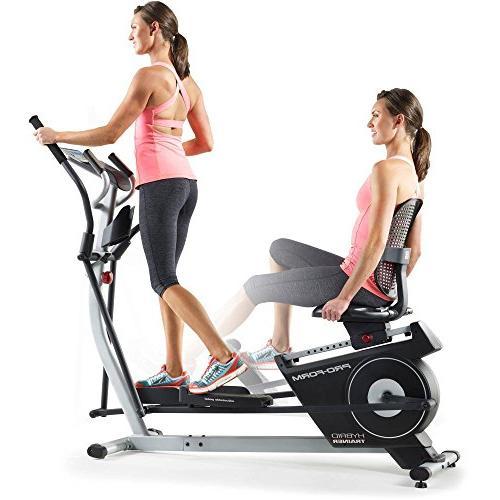 1 double elliptical recumbent bike