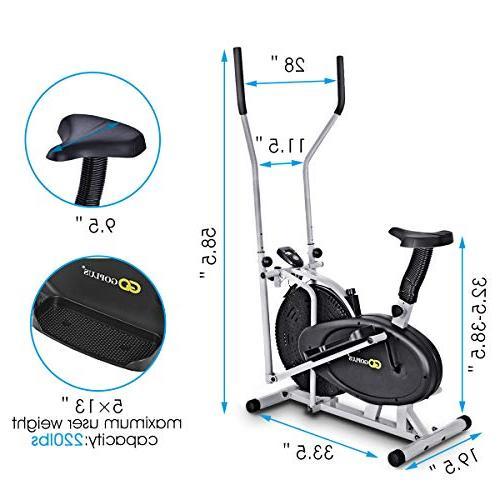 Goplus 2 Elliptical Bike Trainer Machine Home
