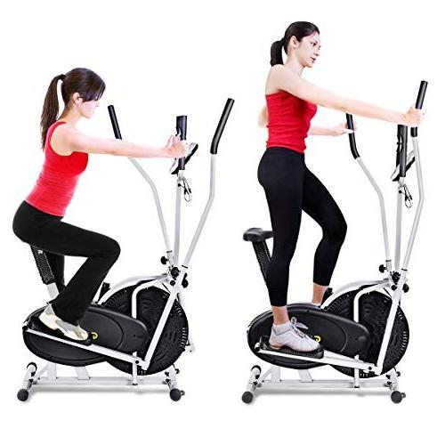 Goplus in 1 Elliptical Dual Cross Trainer Workout