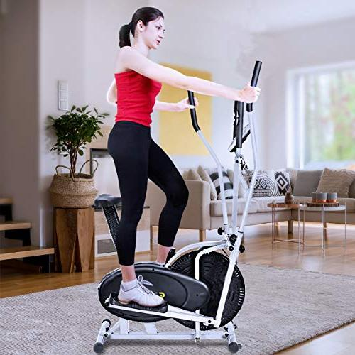 Goplus 2 1 Elliptical Dual Cross Trainer Machine Workout Gym