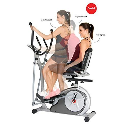 3-in-1 / Upright Bike Programs Trainer Exercise Bike Machine Home Weight