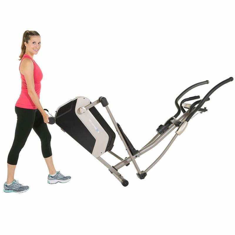 Exerpeutic Elliptical Trainer With Double Transmission