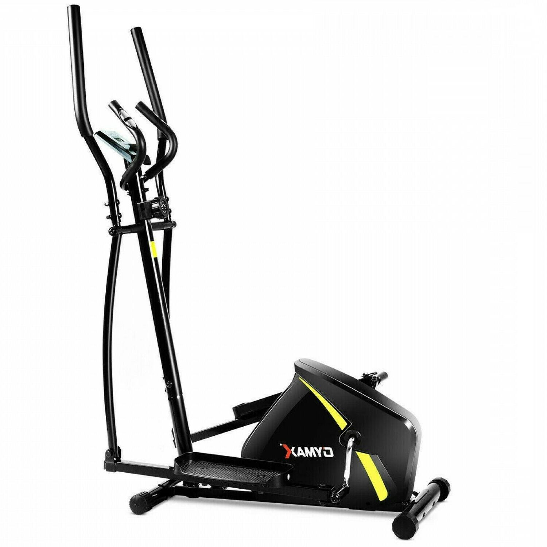 2-in-1 Elliptical Dual Cross Trainer Machine Fan Bike Home E
