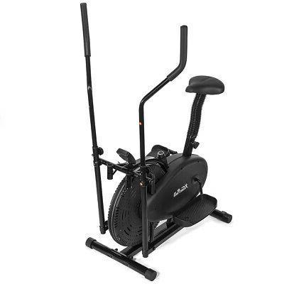 BLACK 1 Elliptical Bike Cross Training Stationary Exercise Fitness