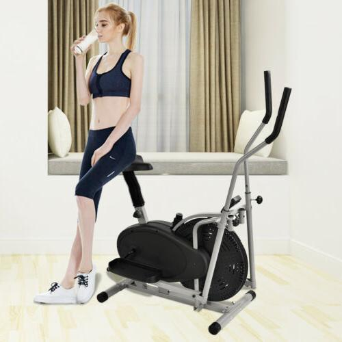2 in 1 Elliptical Machine Exercise Upright Bike Fitness Workout