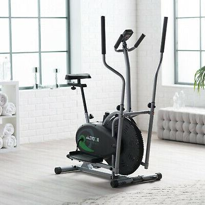 Body Rider 2-in-1 Fitness Machine W Elliptical And Stationary Exercise