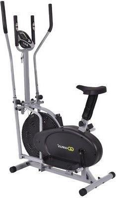 2 in1 Elliptical Dual Cross Trainer Machine Fan Bike Pedals