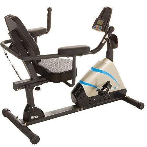 Exerpeutic Programmable Recumbent Bike with Air Seat and Pulse Sensors