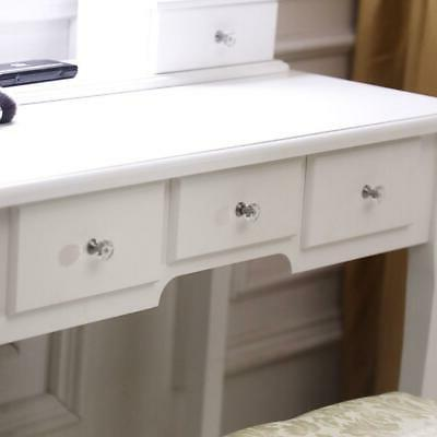 5 Drawers Vanity Table Set with Lights Mirror