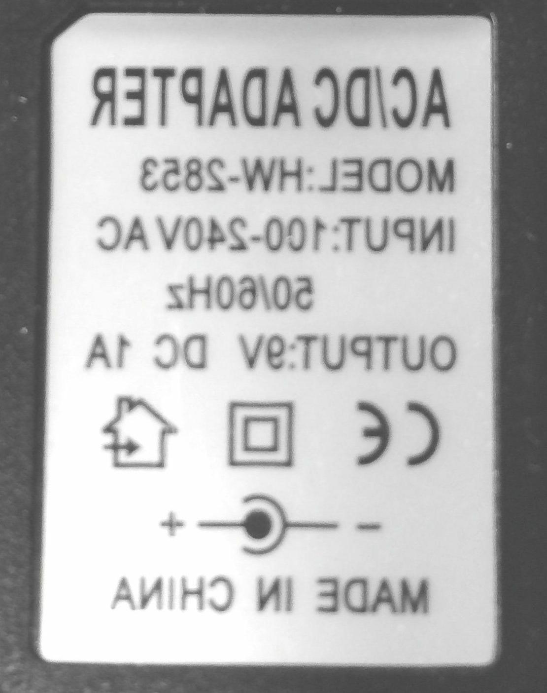 AC POWER SUPPLY ProForm Bike PowerCord - Adaptor - 9volt