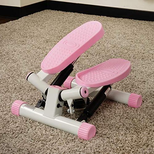 Sunny Health Fitness Adjustable Stepper, Pink
