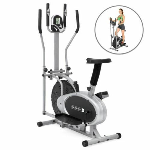 bcp 2 in 1 elliptical trainer exercise