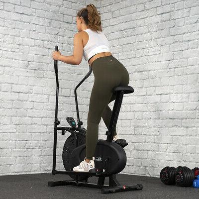 BLACK in Elliptical Bike Stationary Exercise Fitness