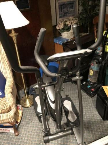 black 2 in 1 elliptical bike cross
