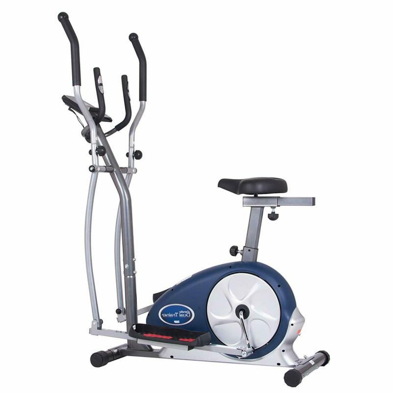 Body Champ Workout Exercise Bike Elliptical Dual Trainer Wit
