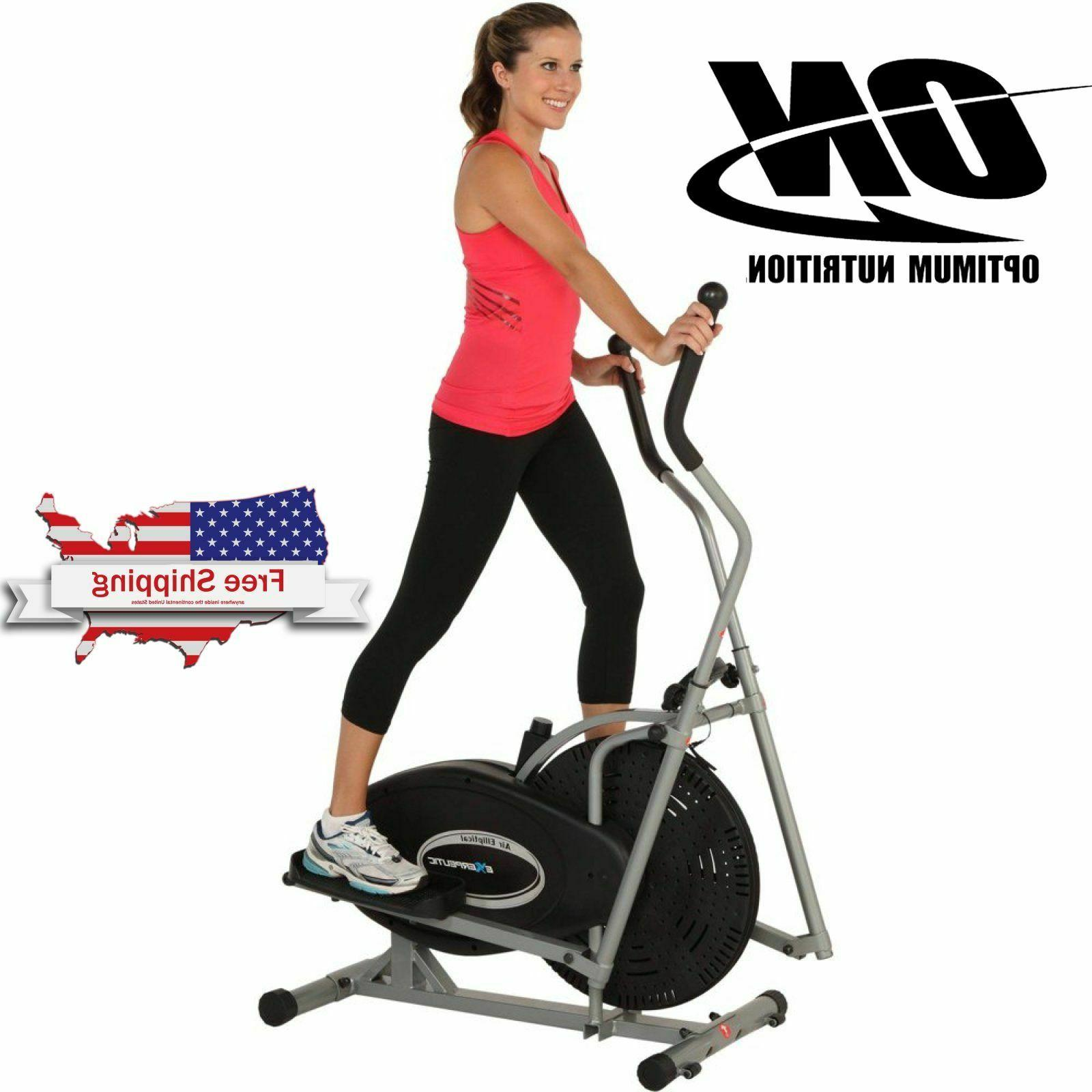 Cardio Elliptical Machine Dual Action Exercise Fitness Home
