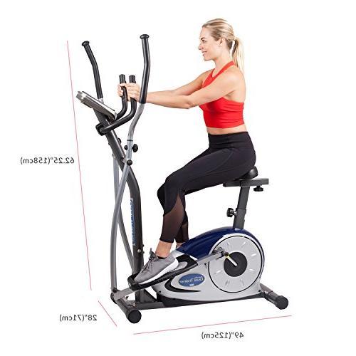 Body Champ 2 1 Dual Workout Bike Computer Resistance BRM3671