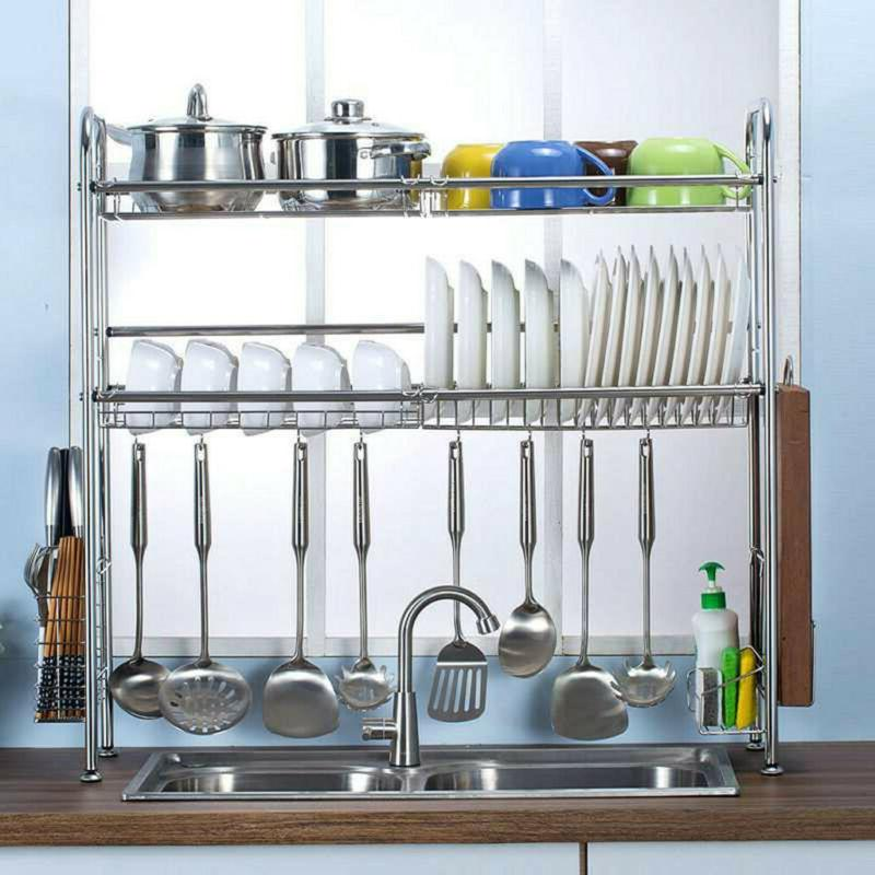 Dish Drying Sink Drainer Home Kitchen Utensils Holder Sturdy