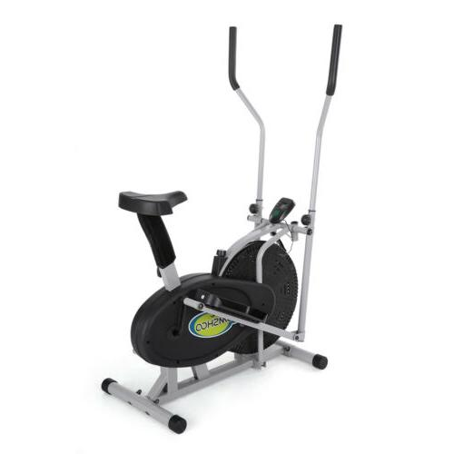 electric magnetic elliptical trainer 2 in 1