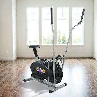 Indoor Elliptical Exercise Fitness Trainer Workout Gym Cardio Equipment
