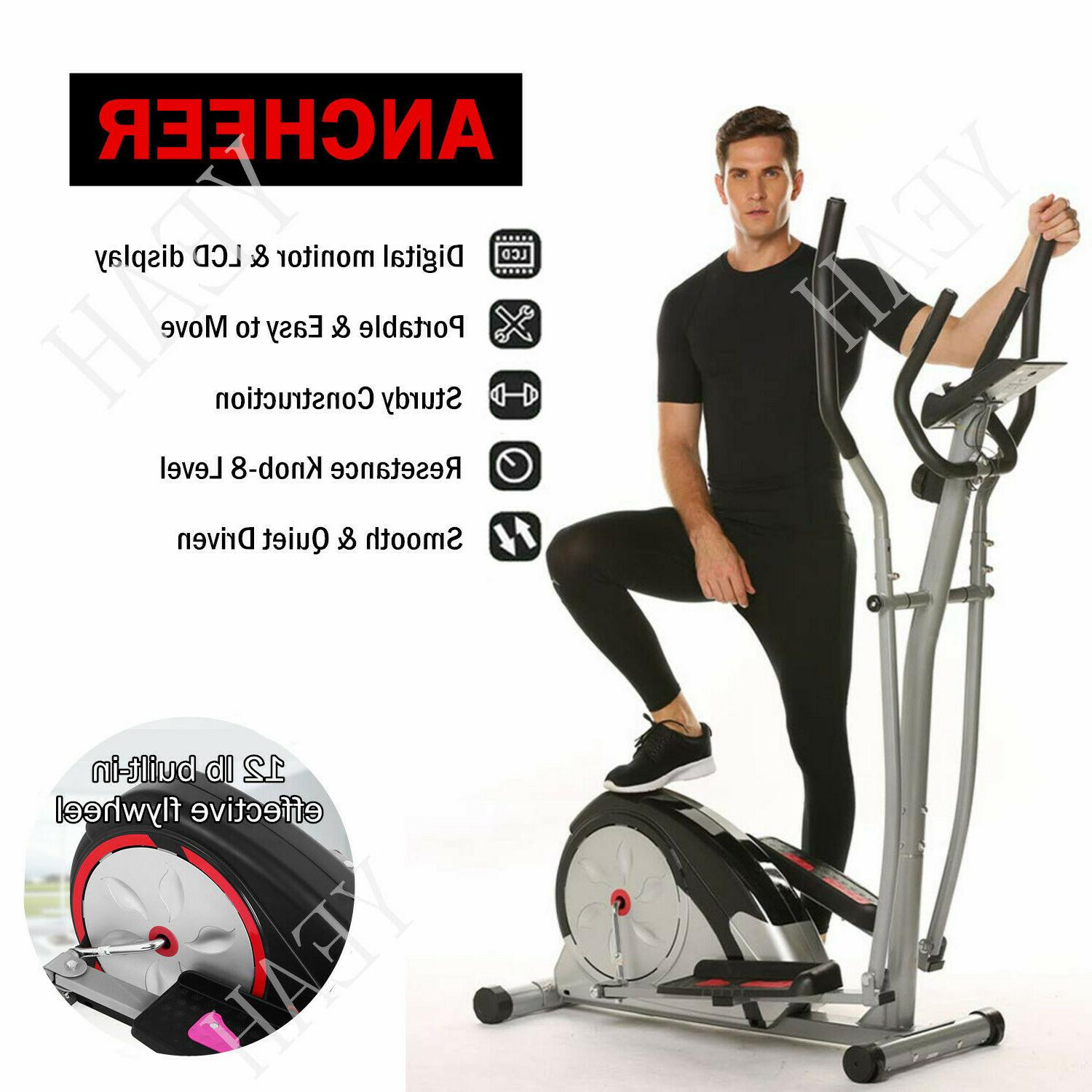 ANCHEER Elliptical Exercise Fitness Trainer Workout Machine