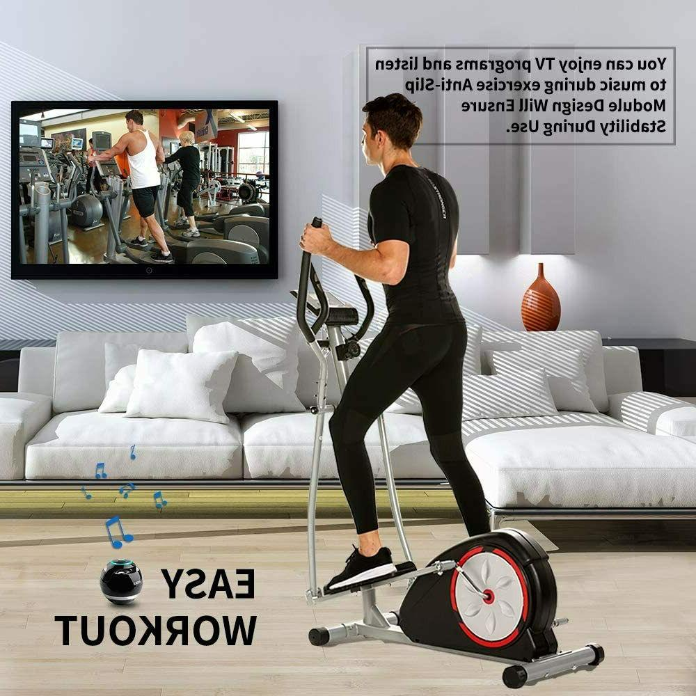 Elliptical Exercise Machine+LCD Monitor Compact Equipment