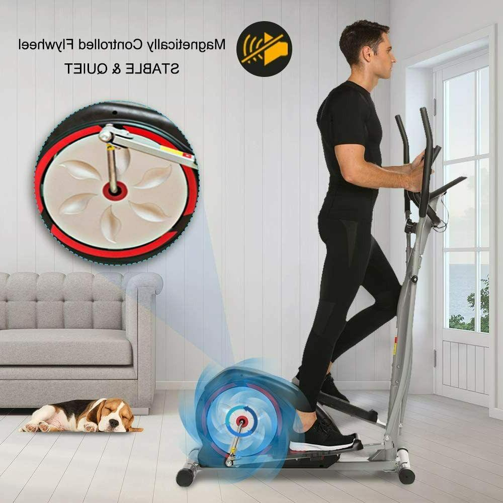Elliptical Exercise Trainer Machine+LCD Monitor Compact Life Exercise