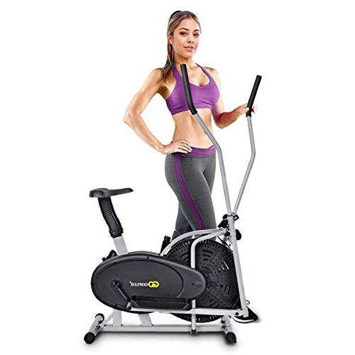 Goplus Elliptical 2 1 Cross Machine Workout Equipment Home Gym