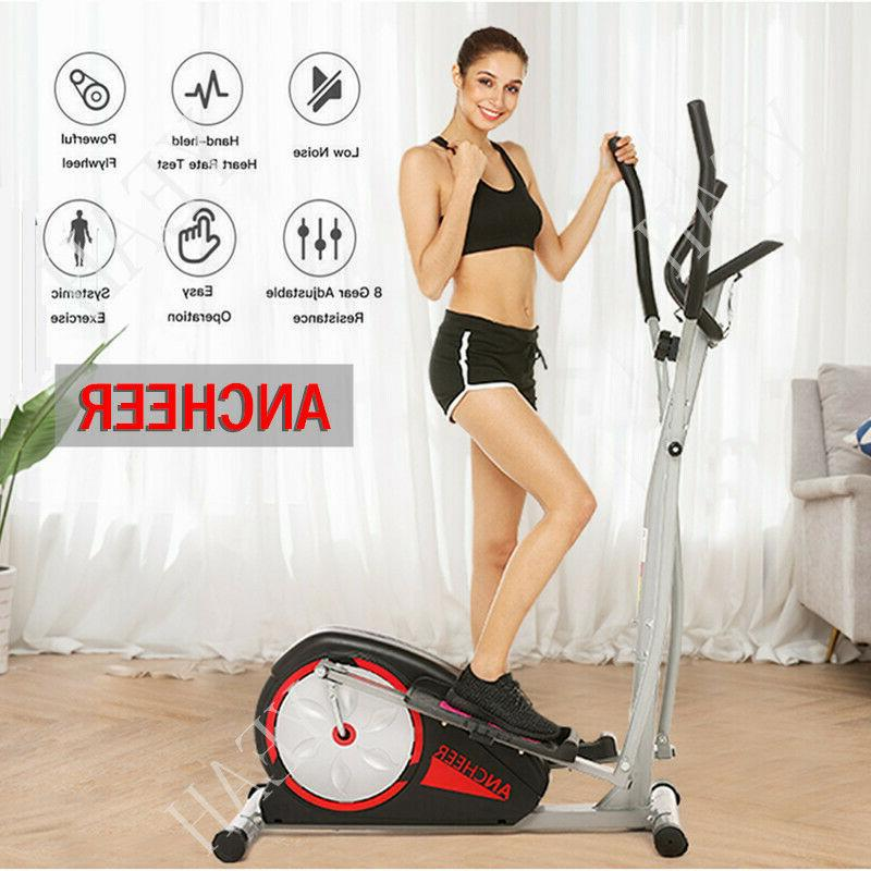 Elliptical Exercise Indoor Fitness Trainer Workout Machine H