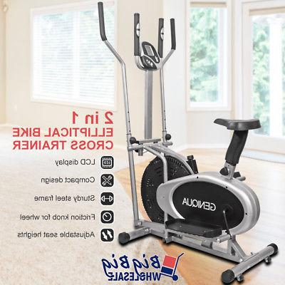 elliptical trainer cross exercise bike fitness workout