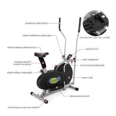 Elliptical Bike IN 1 Cross Fitness Machine Gym Workout