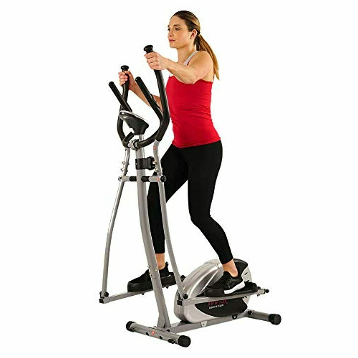Sunny Health SF-E905 Elliptical Cross Trainer with Res