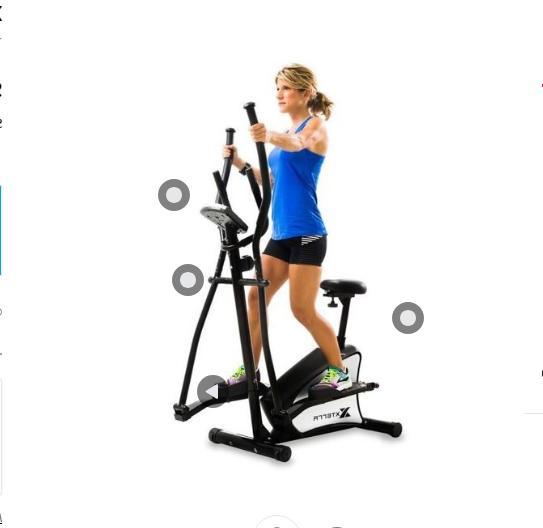EU100 2-in-1 Hybrid Elliptical Machine Fitness Trainer Cardi