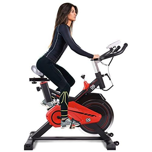Goplus Exercise Cycle Trainer Heart w/LED Display for Gym Cycling Workout