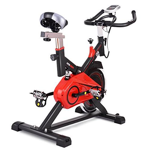 Goplus Exercise Bike Stationary Cycle Trainer w/LED Display for Home Gym Cycling