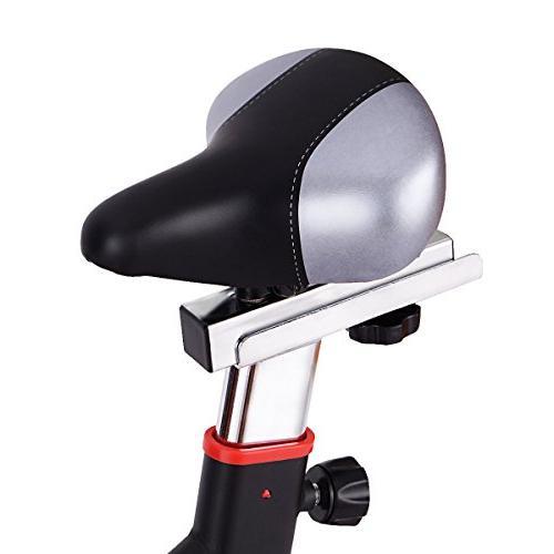 Goplus Exercise Bike Cycle Heart w/LED Gym Cycling