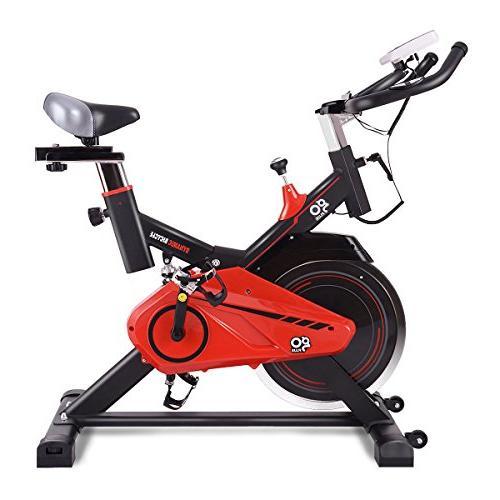 Goplus Bike Indoor Stationary Cycle Trainer Heart w/LED