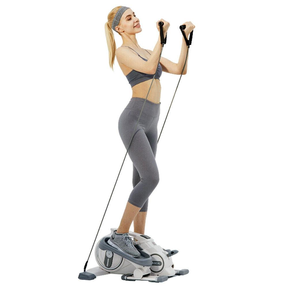 Fitness Elliptical Machine Movable Steppers for Exercise Hom