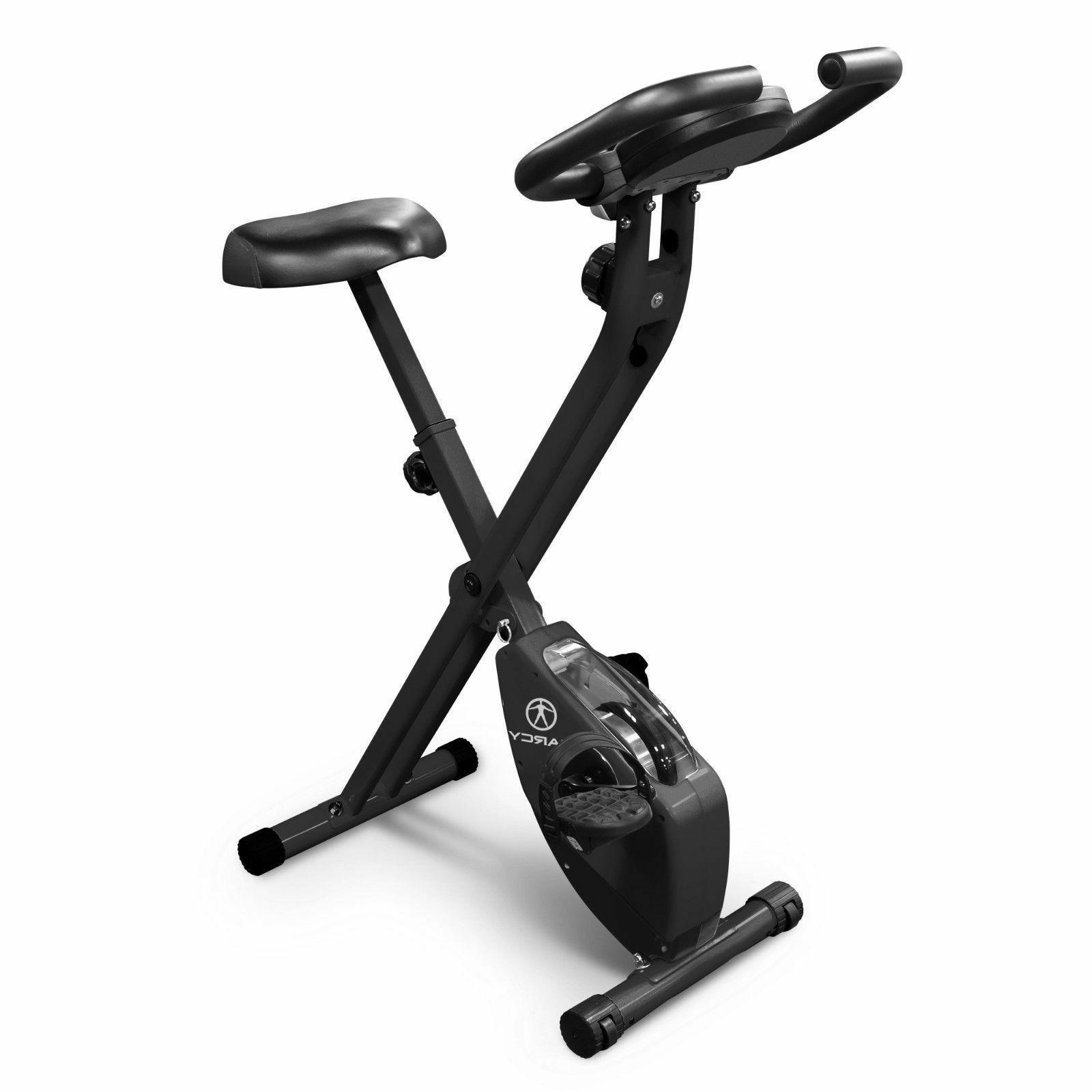 Marcy Foldable Upright Exercise Bike | NS-654 Stationary Com