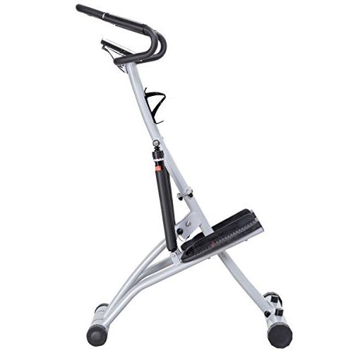 Goplus 2 Folding Twister Climber Rsistance Levels, Heart Rate, LCD Holder Perfect Workout