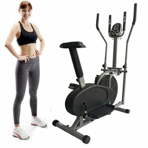 2 in 1 elliptical bike cross trainer