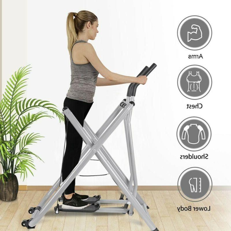 Fodable Glider Elliptical Exercise Machine Fitness Home Gym