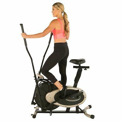 Exerpeutic GOLD XL9 Aero Elliptical and Exercise Bike Dual T