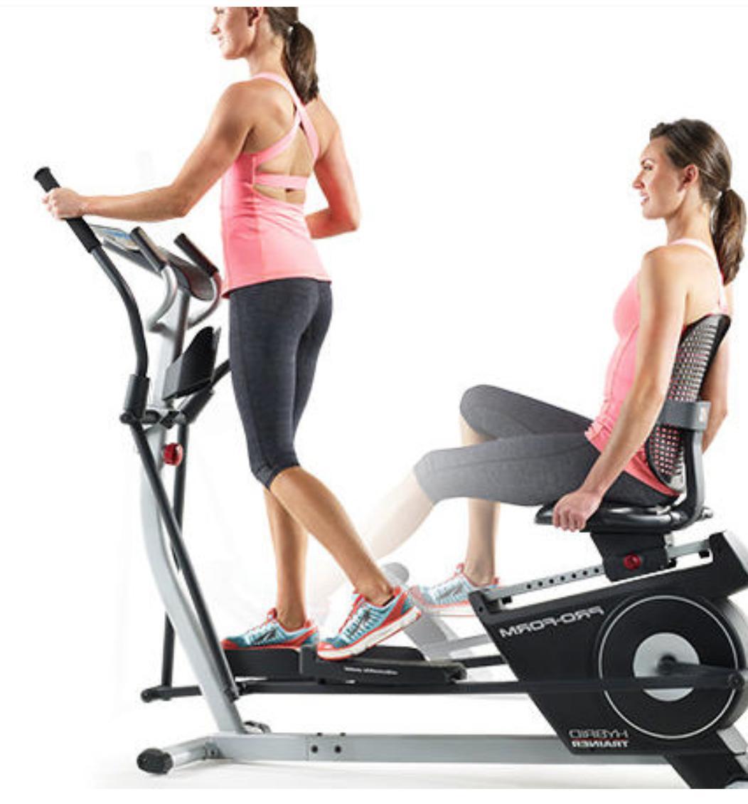 hybrid trainer dual electrical bike and elliptical